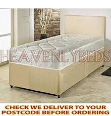 Single Divan Bed With Drawers And Mattress heavenlybeds single divan bed with mattress storage 3ft base for