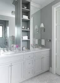 grey shaker bathroom vanity transitional bathroom