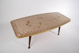 vintage seahorse mosaic coffee table 1950s for sale at pamono