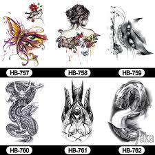 tattoo decal paper buy tattoo transfer paper 6pcs body art butterfly cool cat tattoo