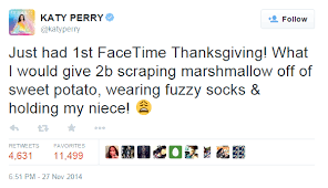 Funniest Thanksgiving Tweets 10 Things Katy Perry Can Teach You About Social Media
