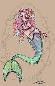 mermaid sketch noflutter deviantart