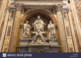 spiritual statues spiritual statues between columns inside st s basilica the