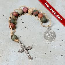 personalized rosary rosary the catholic company