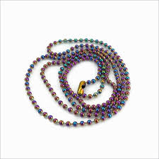 stainless ball chain necklace images 1 x stainless steel 75cm rainbow ball chain necklace maille jpg