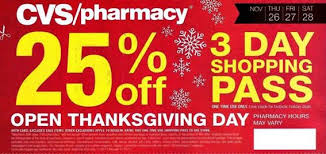 black friday store coupons are you ready cvs 25 off 3 day shopping pass for black friday