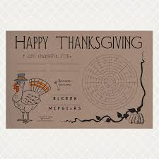 thanksgiving paper placemats