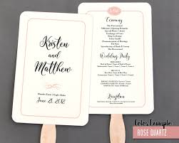 fan program simple border script wedding program fan warm colors
