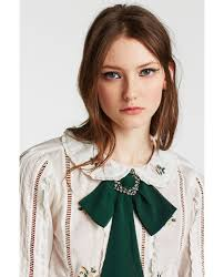 fashion bow necklace images Collar lazo broche bow necklace zara women and brooches jpg