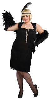 black flapper dress plus size womens roaring 20s halloween