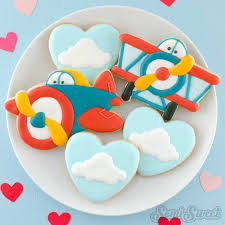 how to make cute airplane cookies semi sweet designs