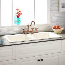 bisque kitchen faucet 43 selkirk bisque bowl cast iron drop in kitchen sink