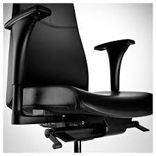 Ikea Office Swivel Chair Volmar Swivel Chair With Armrests Mjuk Black Ikea