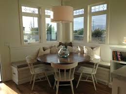 dining table with booth seating round dining table with bench