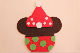 disney craft mickey and minnie caramel apple ornaments