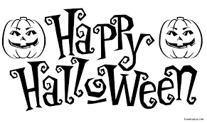 happy halloween logo black and white u2013 festival collections