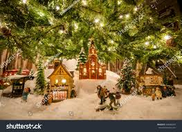 images of miniature christmas villages christmas tree decoration