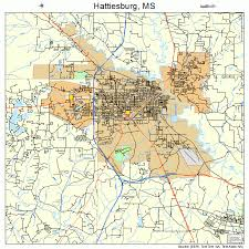 map of hattiesburg ms hattiesburg mississippi map 2831020