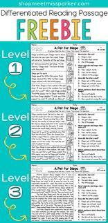 free grade reading passages free differentiated reading passage for 2nd grade this free
