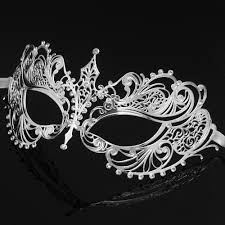 white masquerade masks for women darker collection metal masquerade mask women m7117 beyond party