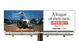 League For The Blind And Disabled See The Baseball Player In A Wheelchair Featured On Our Billboard
