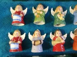 goebel bell tree ornaments set of 10 west germany