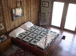 bedroom comfortable hanging beds with window combine white