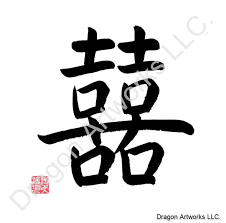 happiness symbol happiness symbol calligraphy painting