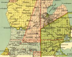 State Of Michigan Map by Township Map Of Michigan Michigan Map