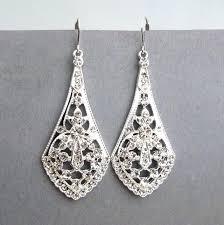 Chandelier Earrings Bridal Vintage Style Chandelier Earrings U2013 Eimat Co