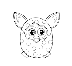 furby coloring pages furby furby coloring pages pinterest