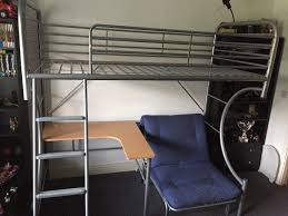 High Sleeper With Futon Benson For Beds Metal High Sleeper With Desk Futon In Dundee