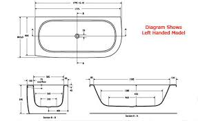 Length Of A Bathtub New Standard Dimensions Of A Bathtub 59 About Remodel Online With