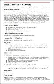 Language Skills Resume Sample by Stock Controller Cv Sample Myperfectcv