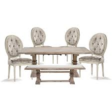 Burlap Dining Chairs Z Gallerie Archer Table Pair Madeleine French Country Oval