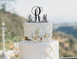 monogram cake toppers for weddings wedding cake topper personalized monogram cake topper 2133606