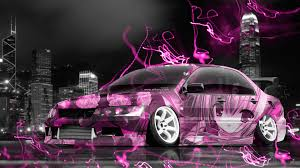 mitsubishi pink mitsubishi lancer evolution jdm tuning anime city car 2015 el tony