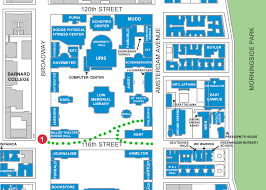 Columbia College Chicago Map by Map Of Columbia University My Blog