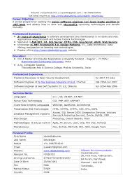 Latest Resume Sample by Resume Format For Experienced Software Developer It Resume Cover