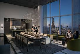 Private Dining Rooms In Chicago Amenities Interior Designs Unveiled For South Loop U0027s 1000m