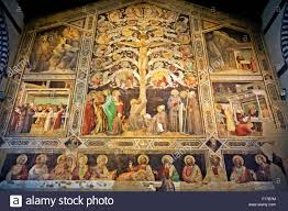 gaddi last supper tree life stock photos gaddi last supper tree taddeo gaddi last supper and tree of life and four miracles 1340 santa