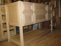 Kitchen Cabinets As Bathroom Vanity Two Glass Sinks On Wood Vanity Ideas Unfinished Bathroom Vanity