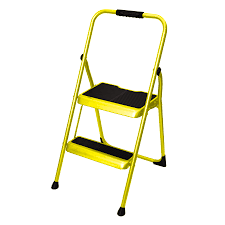 shop werner 2 step 200 lb yellow steel step stool at lowes com