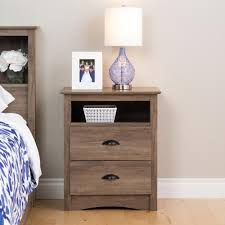prepac salt spring 2 drawer drifted gray nightstand ddc 2428 the