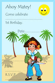Birthday Invitation Card Kids Pirate Party Invitations For Kids Birthday Party Ideas For Kids