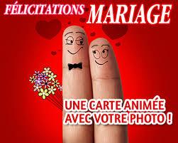 carte virtuelle anniversaire de mariage félicitations mariage carte félicitations animée