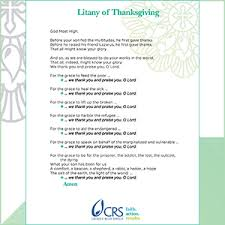 thanksgiving prayers crs
