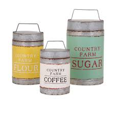 country kitchen canister set farmhouse country set lidded flour sugar coffee canisters kitchen
