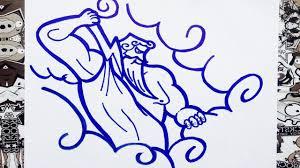 imagenes de zeus para dibujar faciles como dibujar a zeus how to draw zeus como desenhar zeus youtube
