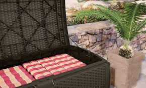 15 off on suncast wicker deck boxes groupon goods